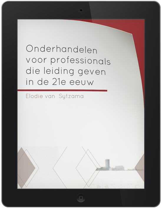 ebook cover onderhandelen in de 21ste eeuw